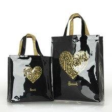Mode PVC Reusable Einkaufstasche frauen Tasche Eco Freundliche London Shopper Tasche Große Kapazität Wasserdichte Handtasche Schulter Tasche