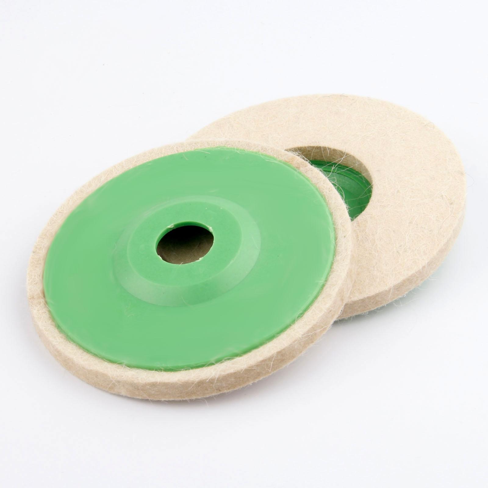 125mm Wool Felt Buffing Grinding Wheel Pad Buffer Polishing Wood Glass Car Disc