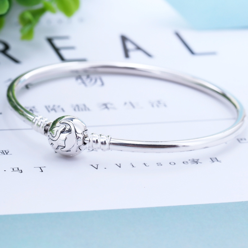 2019 New Original 925 <font><b>Sterling</b></font> <font><b>Silver</b></font> Bead Charm <font><b>Bracelet</b></font> Lion Cartoon Bangle Basic <font><b>Bracelet</b></font> Fit <font><b>Pan</b></font> Moments Women DIY Jewelry image