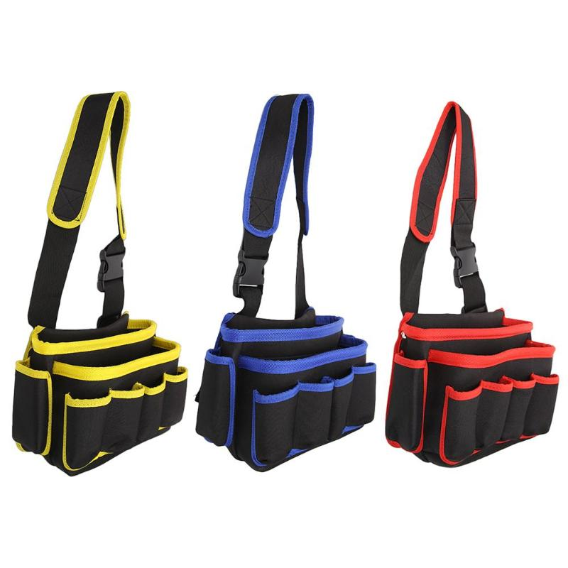 Large Capacity Tool Bag Waist Pockets Electrician Tool Bag Multifunctional Tool Holder Oganizer Hard EVA Polyester​ Pouch Bag