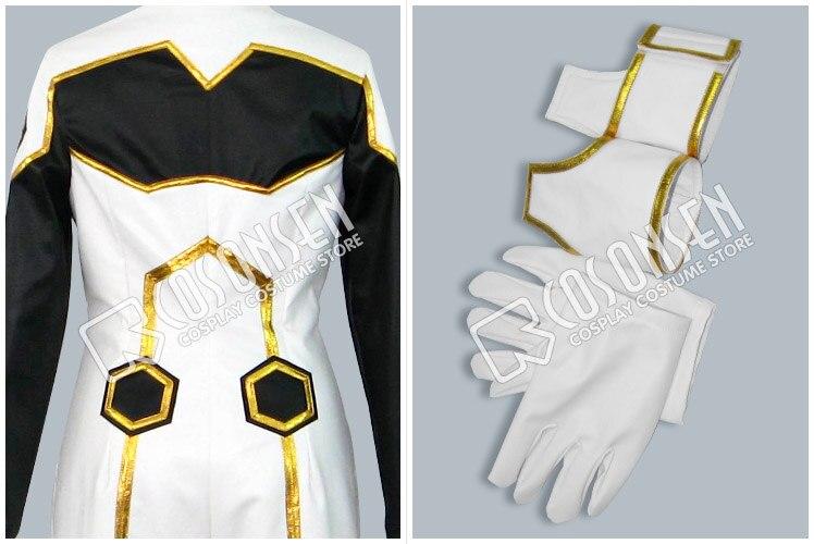 Anime Code Geass chevalier de sept Cosplay Costume blanc noir combinaisons de combat uniforme ensemble complet pour unisexe personnalisé faire n'importe quelle taille - 4