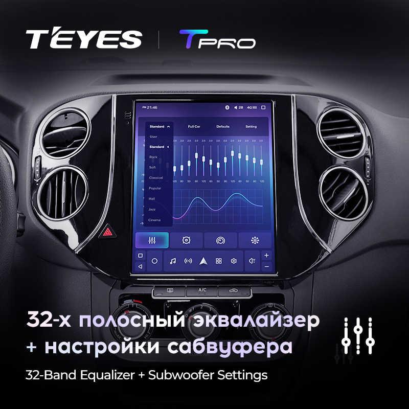 TEYES TPRO Per Volkswagen Tiguan 1 NF Tesla dello schermo di stile 2007 2016 Auto Radio Multimedia Video Player di Navigazione Android GPS