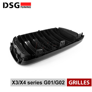 Image 5 - Front Kidney Grill For BMW G01 G02 Bumper Racing Grille X3 X4 ABS Gloss Black/Matt Black Auto Styling xDrive20i xDrive30i 2018+