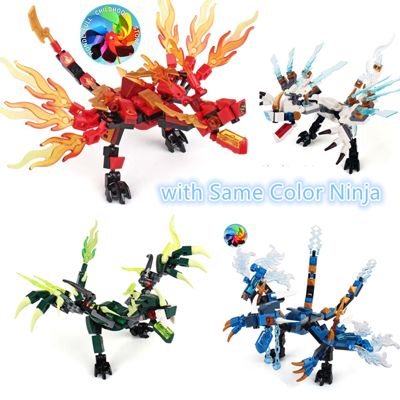 Ninja Thunder Swordsman Dragon Building Blocks Toys Bricks