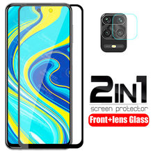 2 in 1 camera lens peotective Glass For redmi note 9s case xiomi redmi note 9s Glass redmy note 9 pro max note9 s tempered Glass(China)