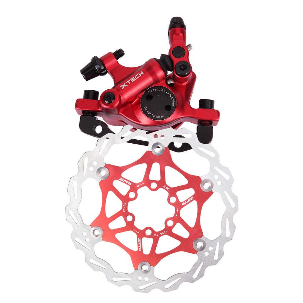 Ligne de vélo de route vtt tirant des étriers de frein à disque hydraulique avant arrière VTT frein à disque d'huile de vélo avec rotor de frein