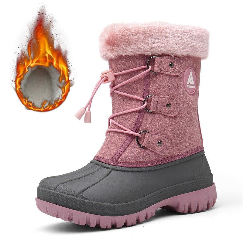 Уличные ботинки для девочек; зимние детские ботинки; кроссовки для мальчиков; теплые плюшевые зимние ботинки; детская обувь на плоской подошве; ботинки до середины икры на платформе; tenis infantil