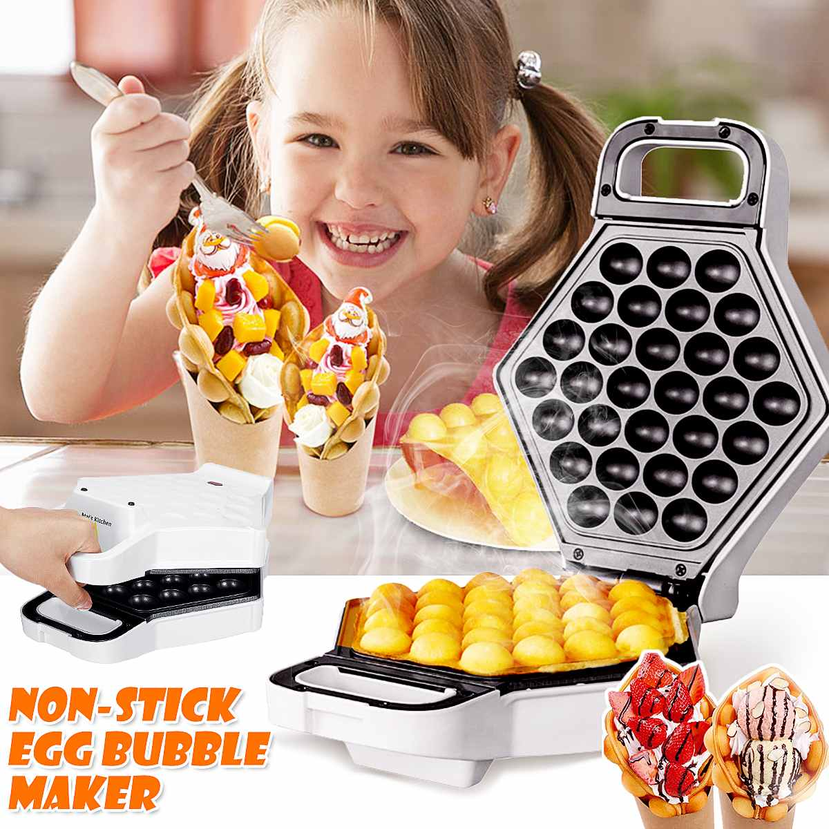 China Bubble Waffle Machine Qq Egg Waffle Machine Electric Puff Egg Waffle Machine Egg Cake Baker Oven