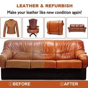 Image 2 - طقم ترميم الجلد السائل ، طلاء داخلي للأحذية ، إصلاح ، أسود ، بني ، منتجات السيارة ، أريكة مقعد السيارة