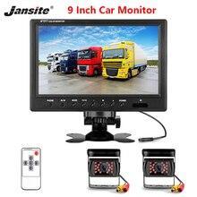 Jansite 9 cal przewodowy monitor samochodowy TFT Monitor z widokiem z tyłu samochodu kamera cofania z trybem parkingowym System dodatkowa kamera cofania do maszyn rolniczych