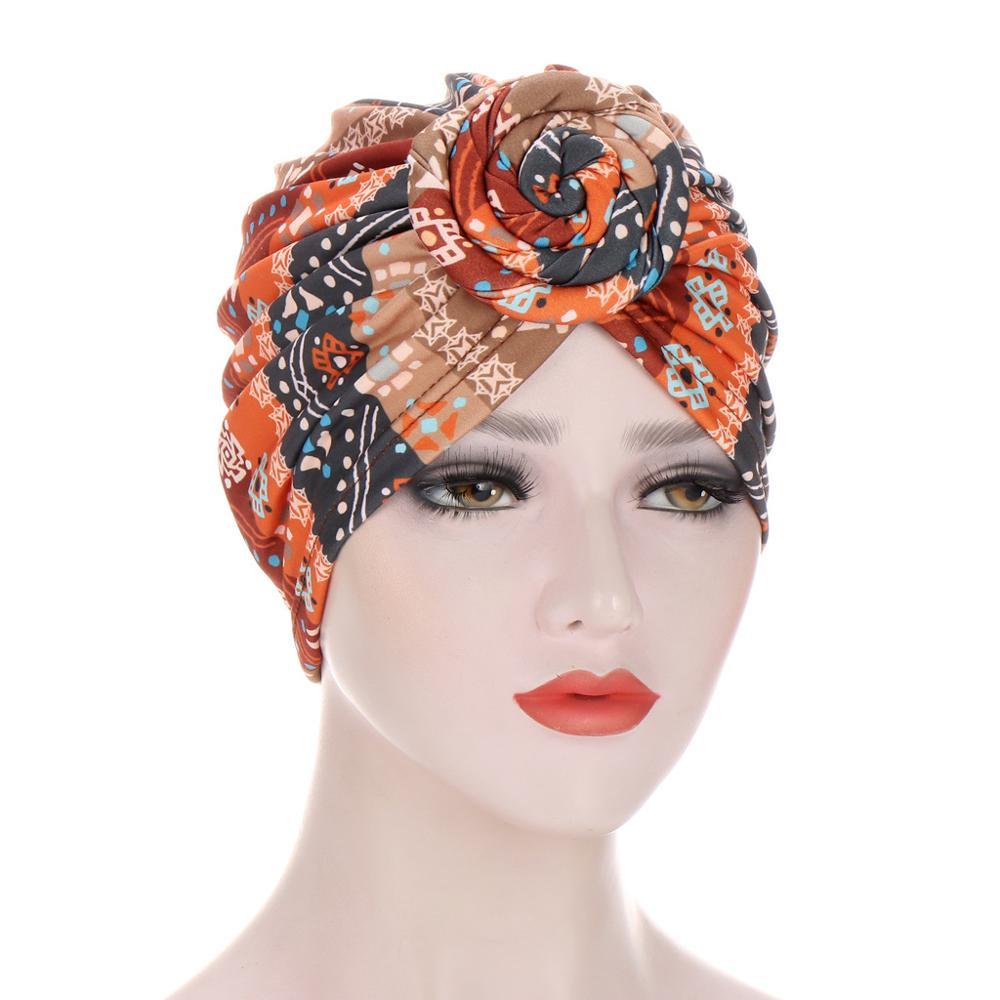Купить новые шапки тюрбаны для женщин предварительно завязанные шелковистые