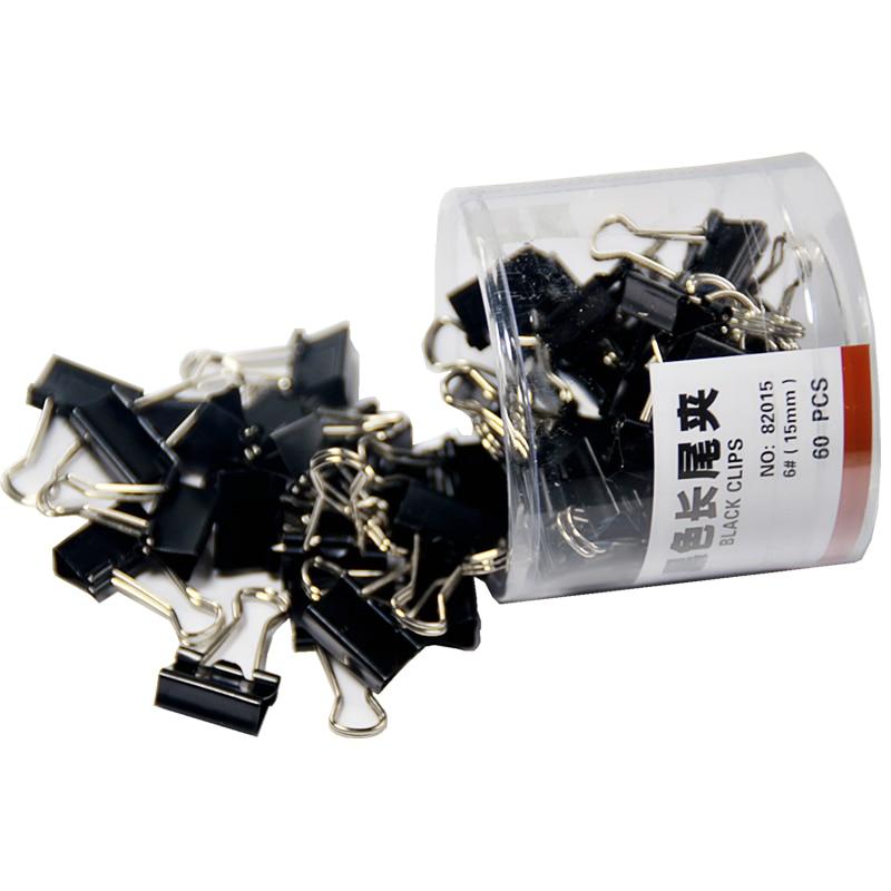 60 pièces/lot Mini trombones en métal 15mm pince noire pour livre papeterie école fournitures de bureau de haute qualité