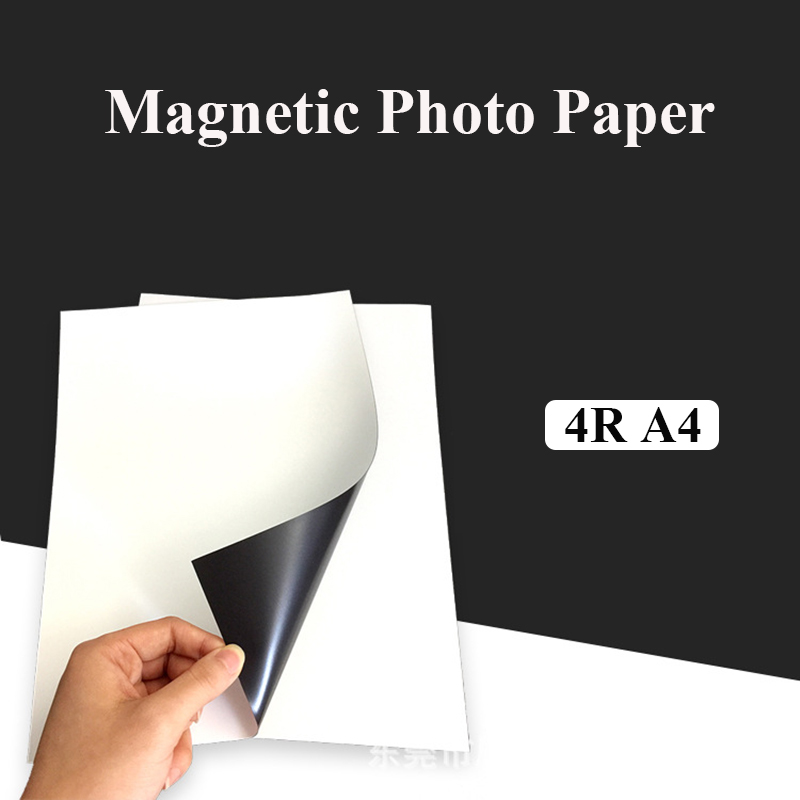 Magnetic Photographic Paper A4 4R Magnetic Paste Inkjet Printing Photo Paper Glossy Matte Stickers Diy Fridge Magnet