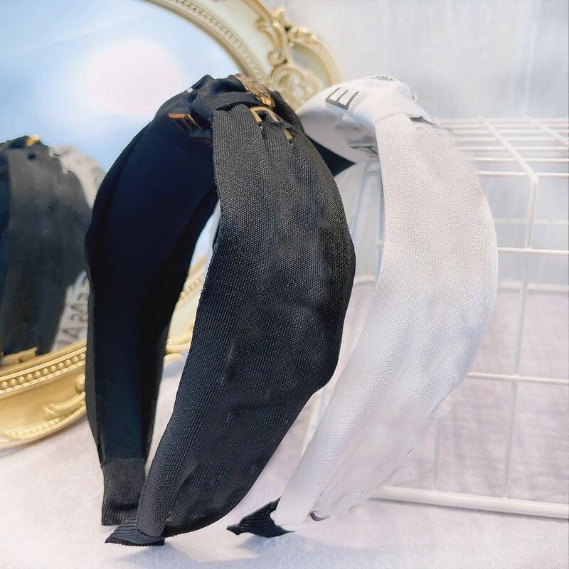 Женская повязка для волос, простой монохроматический ободок с буквами, аксессуар для волос в европейском и американском стиле, ободок для н...