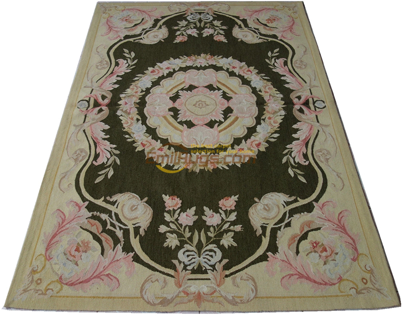 Xpa-26  Chic Shabby Pastel Light Tone French Country Aubusson Area Rug  122x183CM' 4x6' 307gc147aubyg30