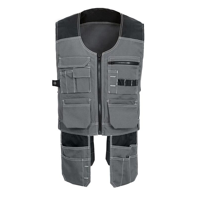 Hommes gilet de travail vêtements de sécurité multi-poches outil gilet Multi fonction photographe menuisier mécanicien vêtements de travail hauts