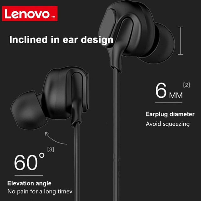Lenovo HF150 Earphone 3.5mm Headset with Mic In ear Wired Earphone for Smartphone MP3 Notebook 3.5mm Jack Gaming Music Headphone