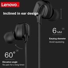 Lenovo HF150 kulaklık 3.5mm kulaklık Mic ile kulak kablolu kulaklık Smartphone için MP3 dizüstü 3.5mm Jack oyun müzik kulaklık