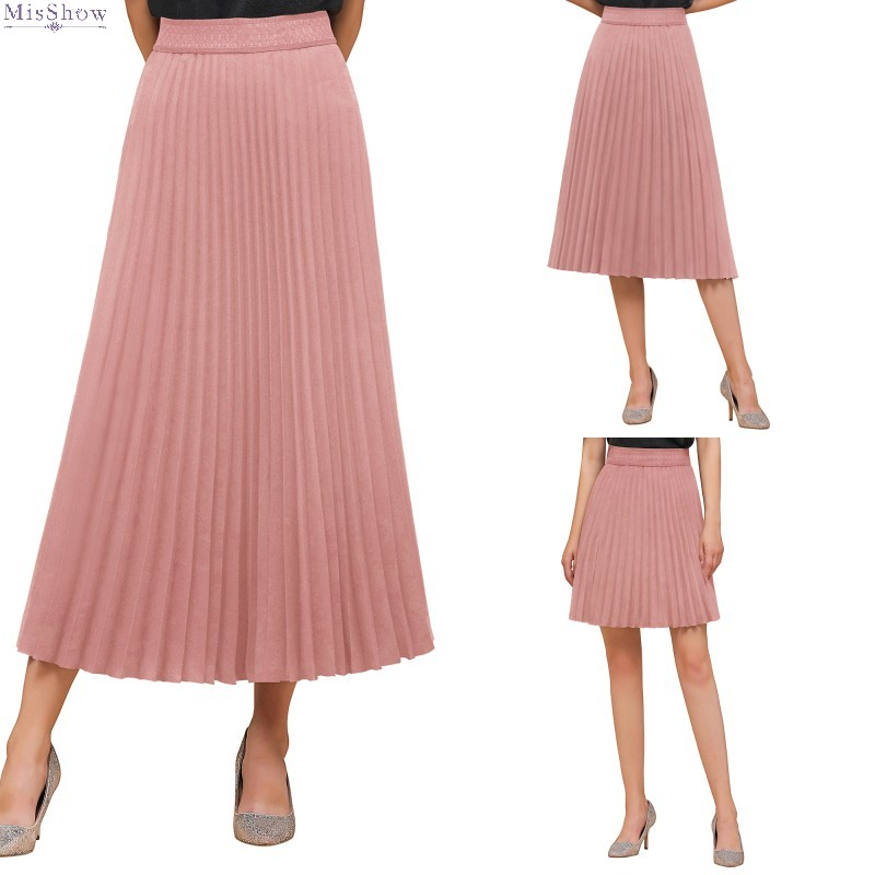 Woman Long Pink Petticoat High Waist Pleated Skirt Underskirt Half Slips Dance Adult Tutu Rockabilly 2020 Wedding Accessories