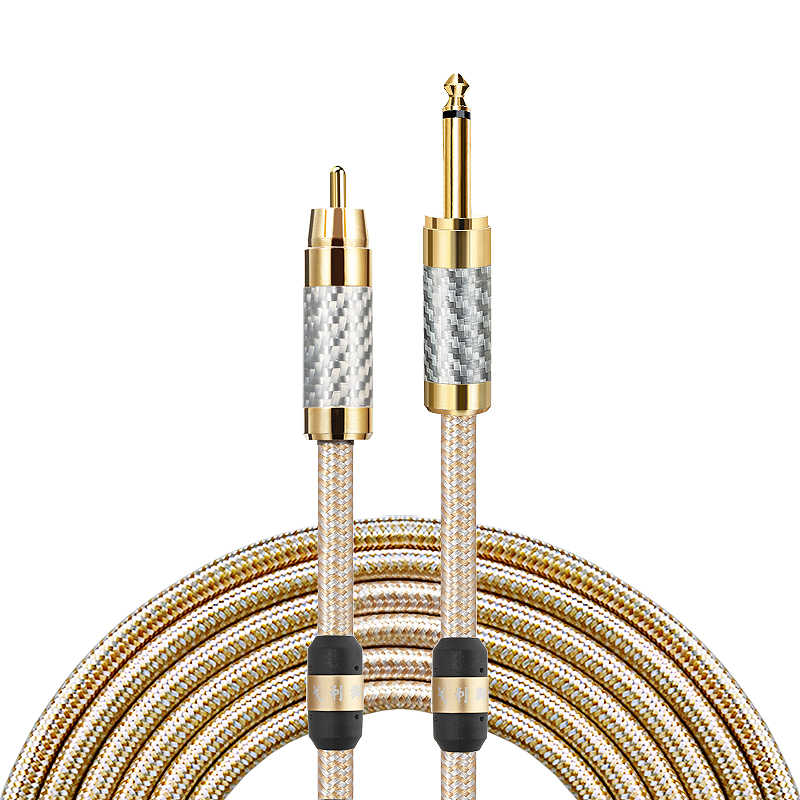 6.35mm Guitar Cable 1//4 Inch TS Male Phono Audio Jack Plug Wire Cord Amp 6FT