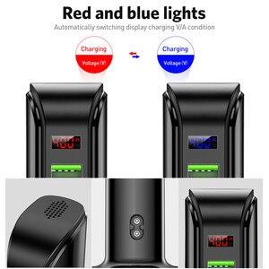 Image 5 - USLION 5 ports Multi USB chargeur LED affichage USB Station de recharge universel téléphone portable bureau mur maison chargeurs ue usa prise britannique