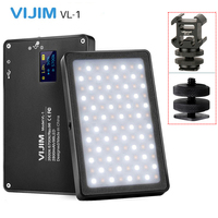 VIJIM VL 1 Mini LED Video Light Magnetic Dimmable Photography Lighting On Camera 96 LEDs Lamp W Cold Shoe High CRI96
