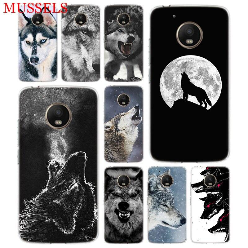 The Wolf Fierce TPU Phone Case For Motorola Moto G7 G6 G5S G5 E4 Plus G4 E5 Play Gift Pattern Coque Cover Shell