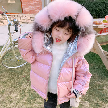 WLG girls winter coats kids double sides hooded long sleeve zipper thick parkas baby girl warm fashion clothes 3-7 years