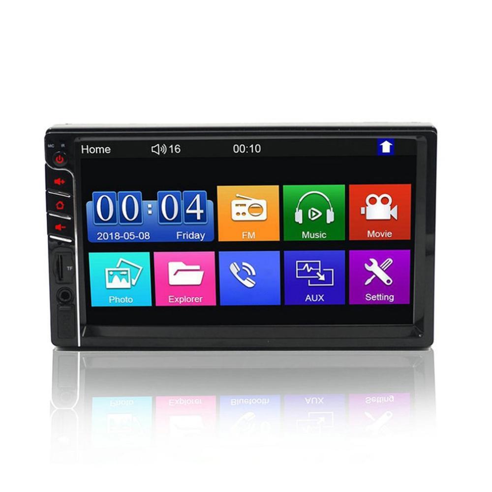 7-дюймовый автомобильный плеер, аудио и видео, громкая связь, двойной шпиндель, Mp5 Mp4, радио