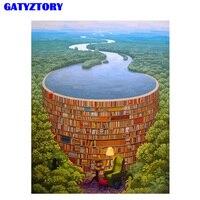 GATYZTORY Imagem Quadro Pintura DIY Por Números Kits Lago Colorindo Por Números Pintura Da Lona Retrato Da Arte Da Parede Para A Decoração Home