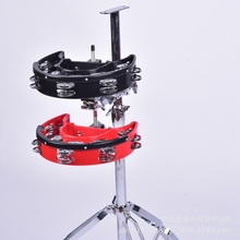 Percussion-Instrument-Accessories Drum Tambourine Double-Ring Moon Rhythm Jazz