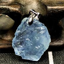 Colgante de Piedra aguamarina azul claro Natural superior para mujer señora hombre cristal 22x20x6mm cuentas de plata piedras preciosas joyería de moda AAAAA