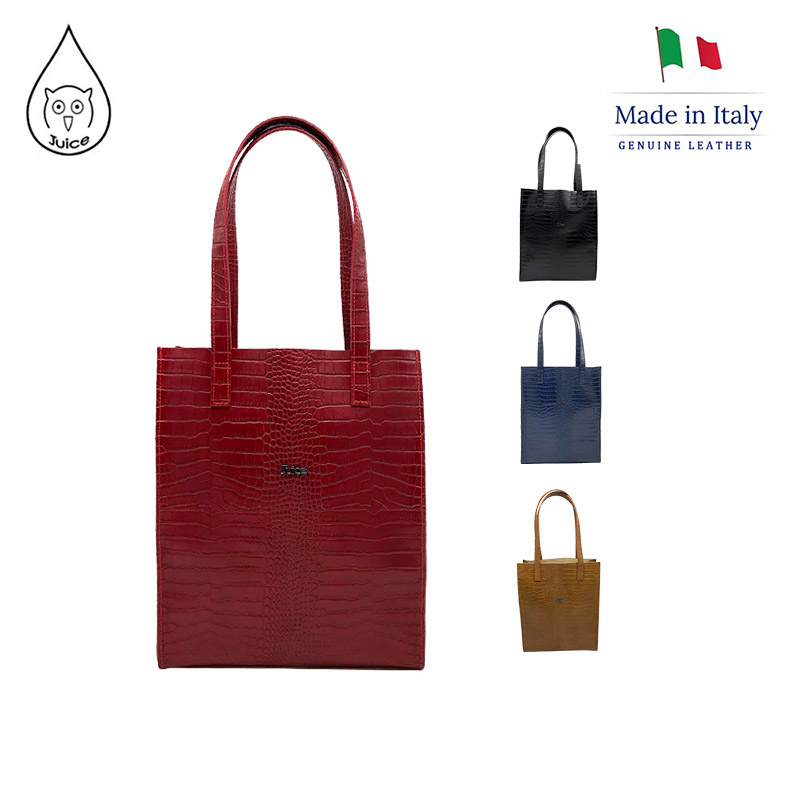 JUICE ,made In Italy, Genuine Leather, Ladies Handbag, Lichee Pattern, Cross-body Bag,112182