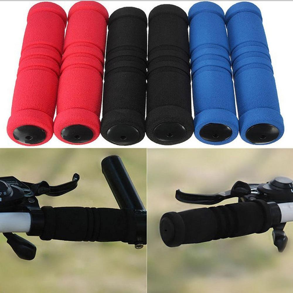 1pair Bike Racing Bicycle Motorcycle Handle Bar Foam Sponge Grip Cover Non-slip