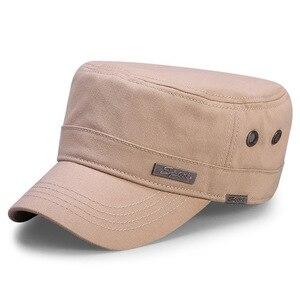 Image 5 - Bahar büyük kafa adam büyük boy ordu düz kap erkekler yaz pamuk artı boyutu örgü askeri şapka 55 60cm 60 65cm