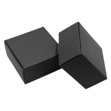 30Pcs Square Small Black Kraft Paper Gifts Packaging Box Natural Paperboard Cardboard Candy Handmade Soap Packing Box(China)