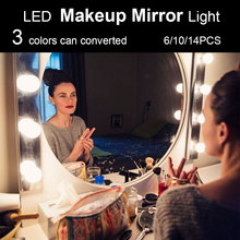 5V USB Hollywood Mirror Light With Touch Led Makeup Vanity Light Bedroom Decor Dressing Stepless Dimmable Table Mirror Bulbs frameless vanity mirror with light hollywood makeup lighted mirror 3color light cosmetic mirror adjustable touch screen 58 46cm