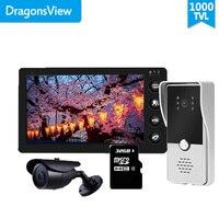 Dragonsview 7 Inch Video Doorbell Camera with Motion Sensor Video Door Phone Intercom System Day Night Vision CCTV Camera