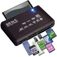 USB 2.0 Lector de tarjetas SD adaptador todo en un lector de tarjetas TF de la ayuda CF SD Mini SD SDHC MMC MS XD