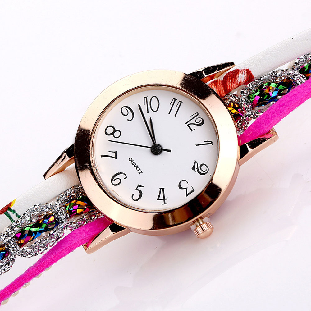 Роскошные женские часы с круглым циферблатом, аналоговые стразы, Цветочный браслет, кварцевые часы