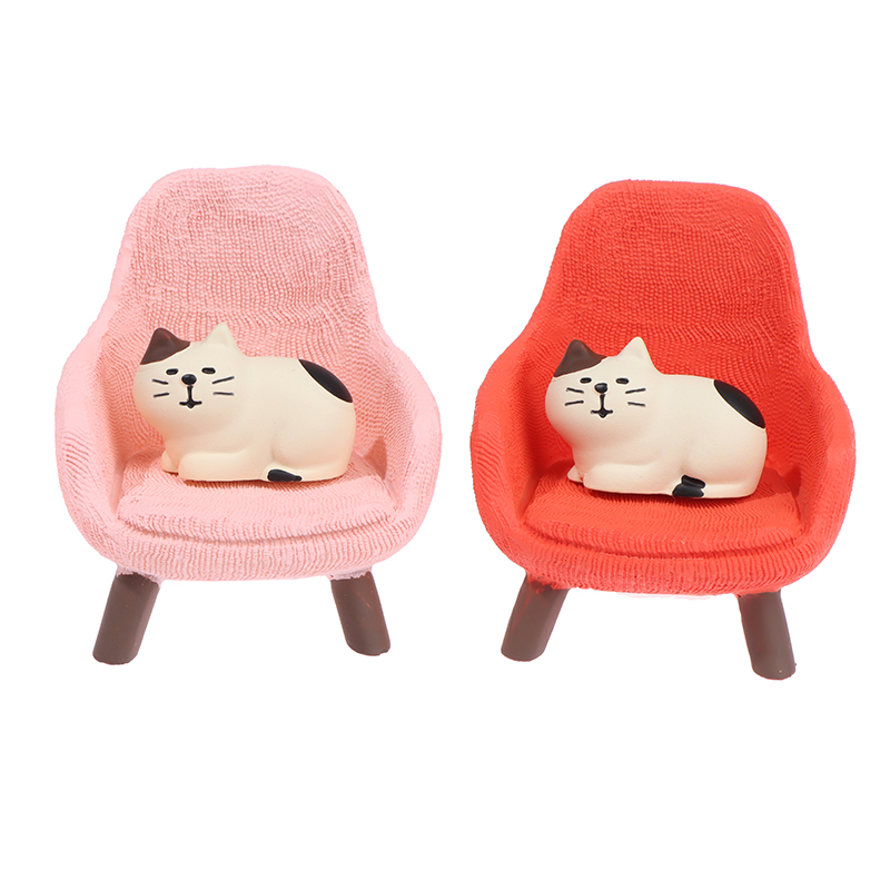 1 Set Simulation Small Sofa Stool Chair Furniture Model Toys for Doll House Decoration