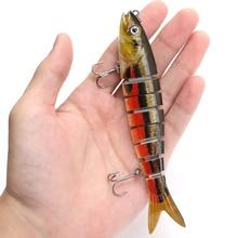 13.7 centimetri 26g Pike Wobblers Esche Da Pesca Sinking 8 Segmenti Multi Snodato Esche Artificiali Esca Dura Swimbait Crankbaits Attrezzatura Da Pesca