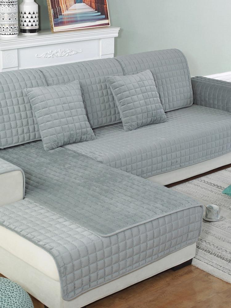 Sofa-Cover Living-Room-Decor Velvet New European Fabric Crystal Thicken