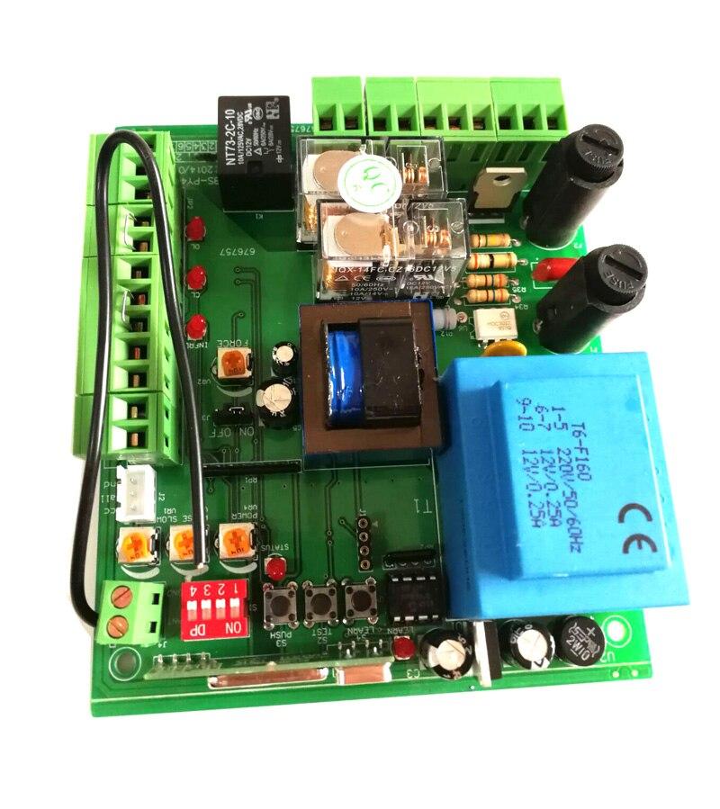 220V  2 Remote Controls Keyfobs Electronic Circuit Board Control Card Mother Board For Baisheng Bisen Sliding Gate Opener Motor