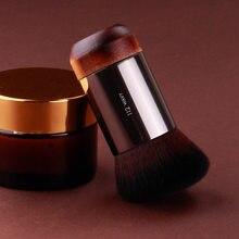 Pincéis de maquiagem profissional fundação escova de contorno de energia solta escova de madeira natural mulher beleza maquiagem escova maquilagem