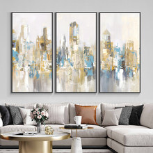 Abstract City Building Wall Poster Nordic Canvas Print Painting Contemporary Landscape Art Decoration Picture For Home Decor