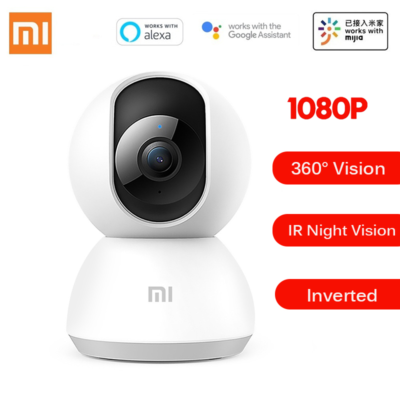 Mise à niveau de XIAOMI MIJIA 1080P caméra IP intelligente 360 ° Version nocturne contrôle de l'application Audio bidirectionnel fonctionne avec l'assistant Alexa/Google