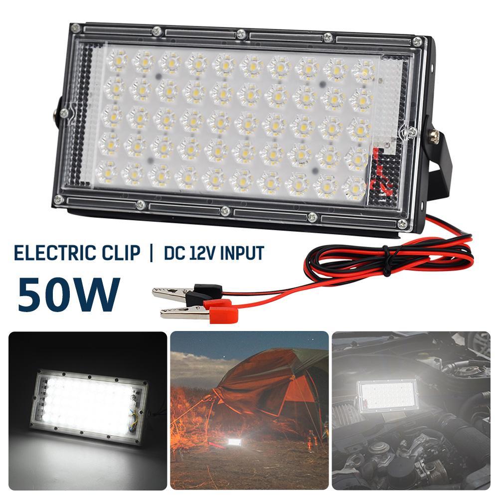 1/2pcs LED Flood Light 50W Outdoor Wall Reflector Lamp Street Garden Floodlight Waterproof IP66 Spotlight Lighting
