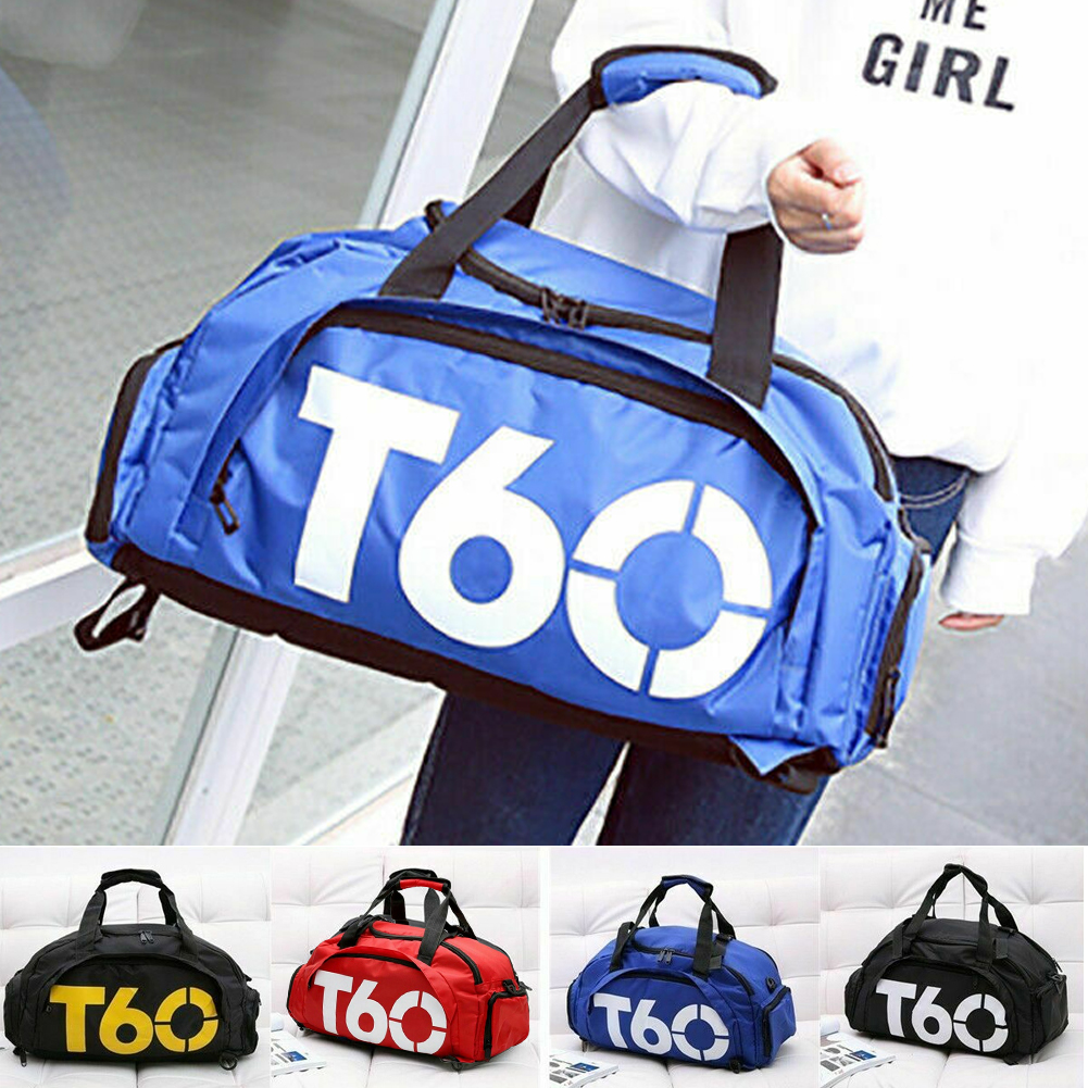 Men Women Gym Sports Bag Training Outdoor Luggage Portable Travel Fitness Handbag Yoga Waterproof Nylon Shoulder Backpack