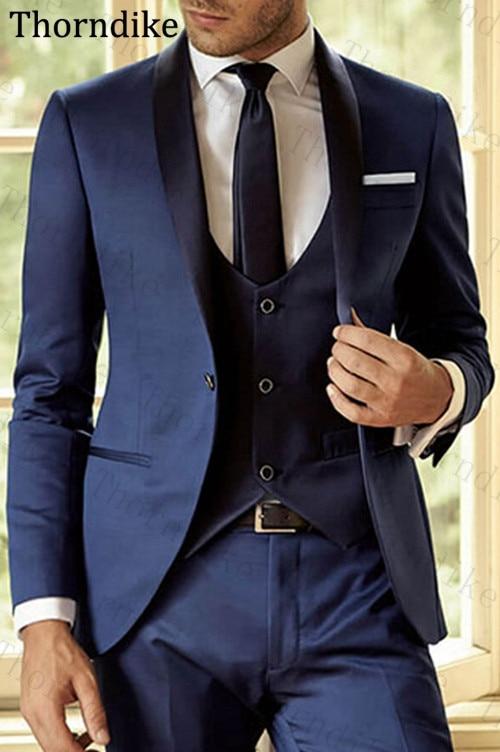 Latest-Coat-Pant-Designs-Navy-Blue-Men-Suit-Slim-Fit-3-Piece-Groom-Shawl-Lapel-Tuxedo